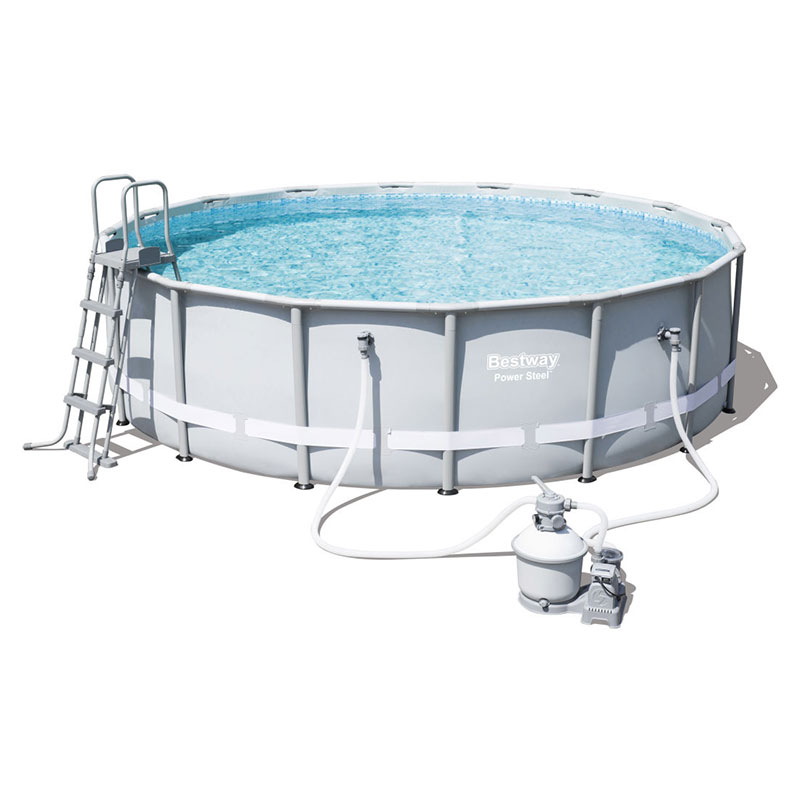 Piscine Bestway Ronde Power Steel 488 x 122 cm avec filtre à sable