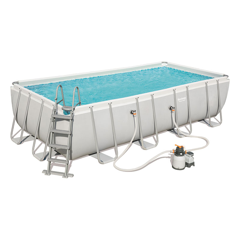 Piscine Bestway Rectangulaire Power Steel 549 x 274 x 122 cm avec filtre à sable