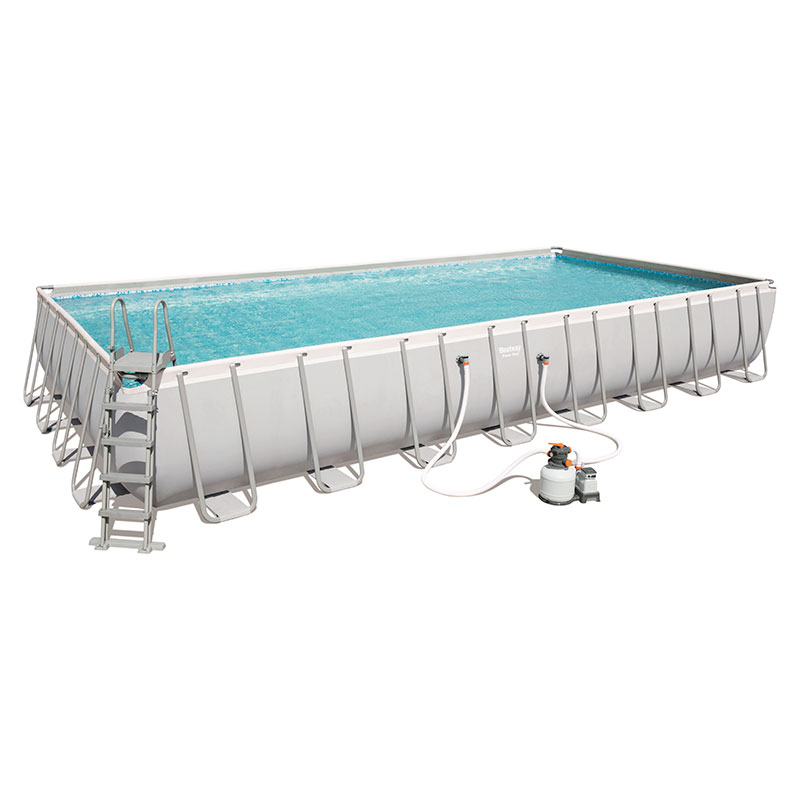 Piscine Bestway Rectangulaire Power Steel 956 x 488 x 132 cm avec filtre à sable