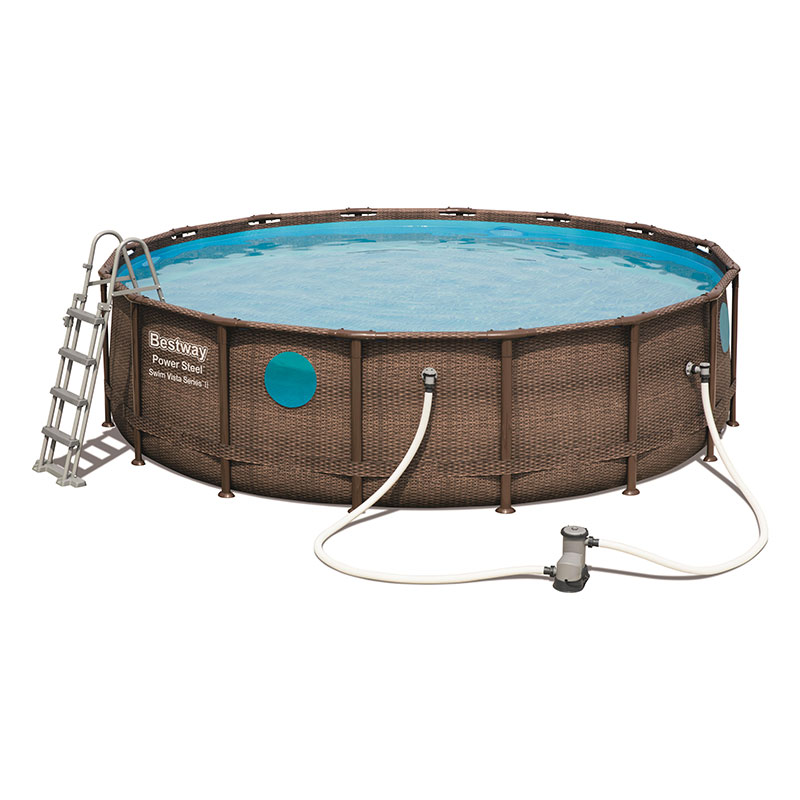 Piscine Bestway Ronde Power Steel Vista 488 x 122 cm