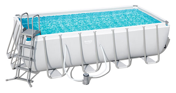 Piscine Bestway Rectangulaire Power Steel Frame 488 x 244 x 122