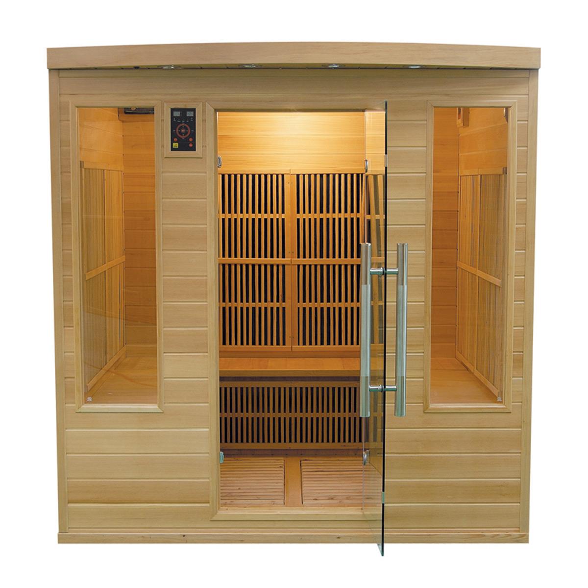 apollon family 4 6 places cabine sauna infrarouge. Black Bedroom Furniture Sets. Home Design Ideas
