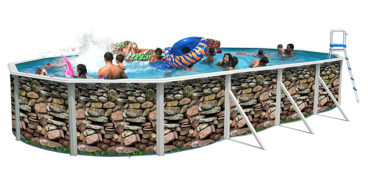 Piscine hors sol muro ovalada 731 x 366 cm for Piscine hors sol dimension
