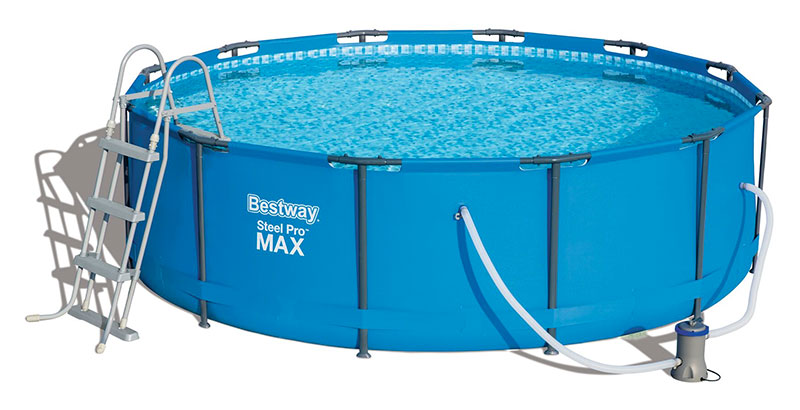 Piscine bestway ronde steel pro max 366 x 100 for Calcul volume piscine ronde